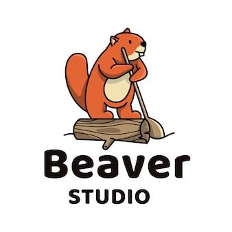 Beaver cute logo