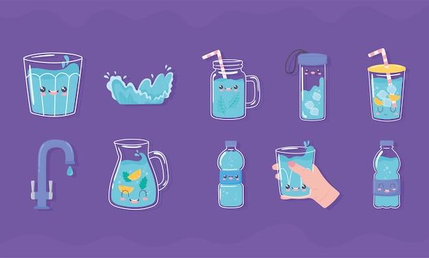 Beba ícones de água