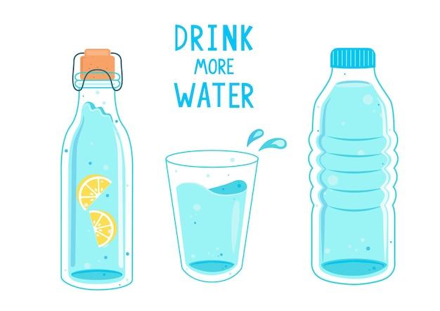 Beba mais água, chamando banner