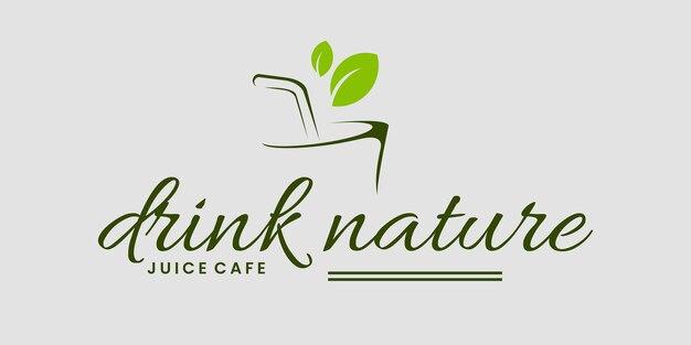 Beba natureza erva logotipo design vetor modelo cartão de visita logotipo