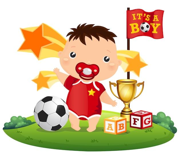 Bebê de futebol