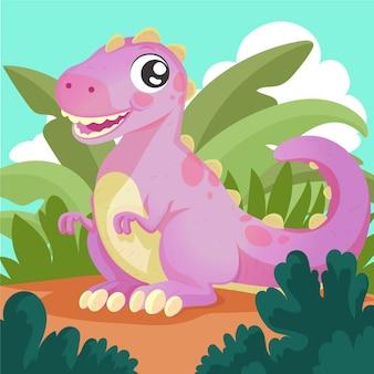 Bebê dinossauro fofo detalhado