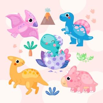 Bebé dinossauro orgânico e fofo