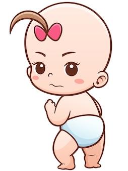 Bebê dos desenhos animados