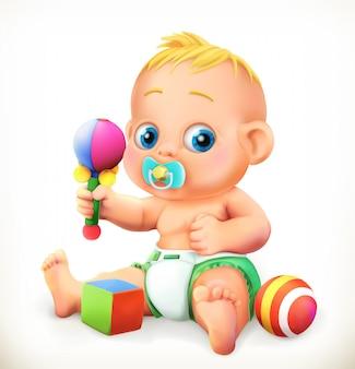 Bebê e brinquedos,