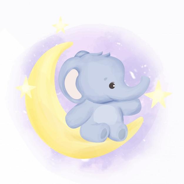Bebê elefante na lua