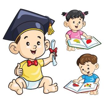 Bebê esperto dos desenhos animados