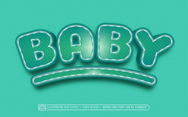 Bebê - estilo de efeito de texto editável
