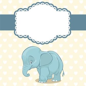 Bebê, fundo, elefante