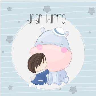 Bebê hipopótamo boho