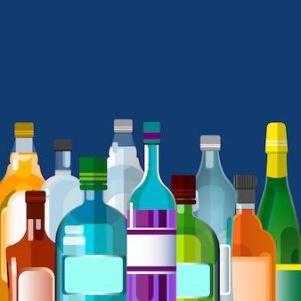 Beber álcool, garrafa set collection