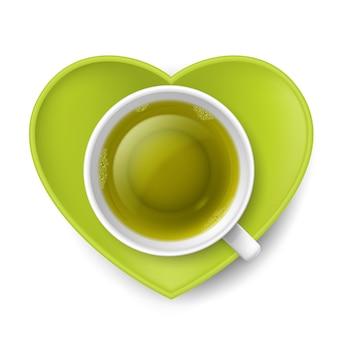 Beber chá romântico