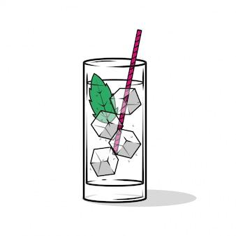 Beber com cubos de gelo