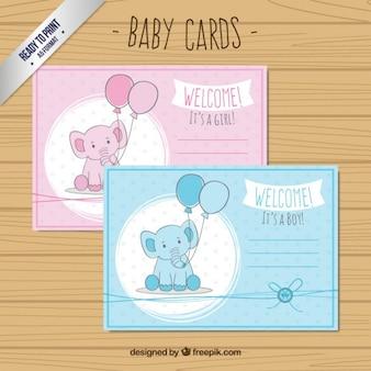 Bebês cumprimentos chuveiro elefante
