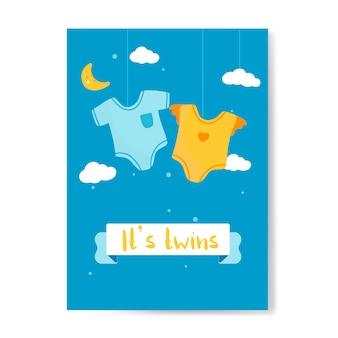 Bebês gêmeos revelam cartão