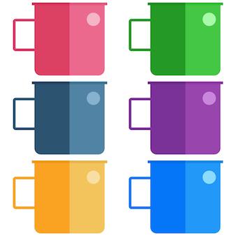 Bebida colorida de metal elemento de vidro ícone do recurso do jogo