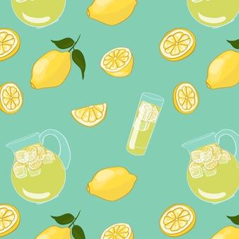 Bebida colorida de verão