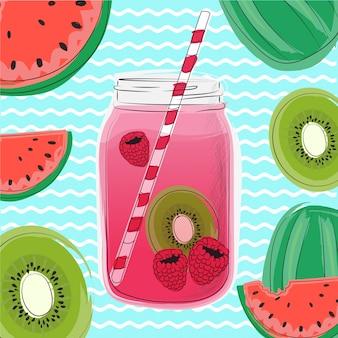 Bebida de baga de verão.