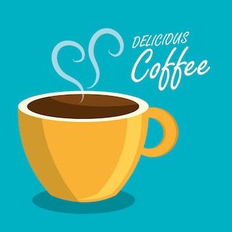 Bebida de café bebida isolada