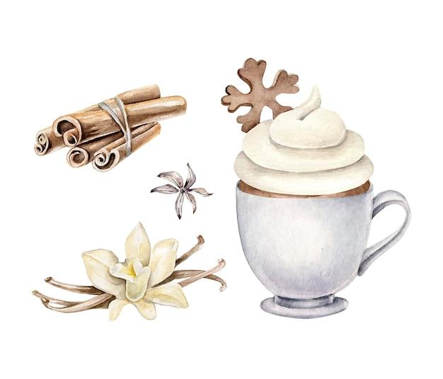Bebida de natal, flor de baunilha, canela, anis estrelado