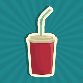Bebida de refrigerante bebida isolada