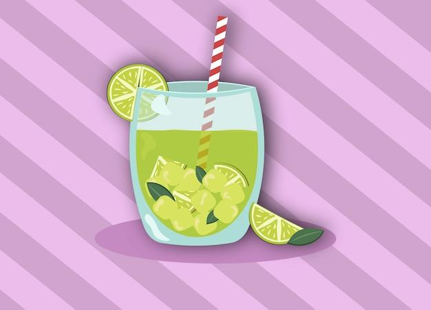 Bebida de vetor mohito