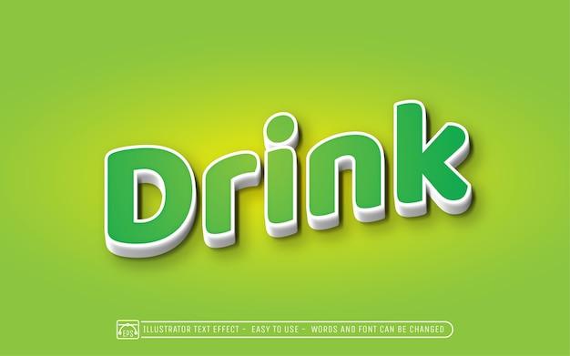 Bebida - estilo de efeito de texto editável