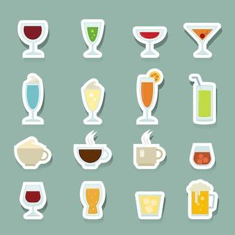 Bebida, ícones, jogo
