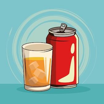 Bebida vintage isolada