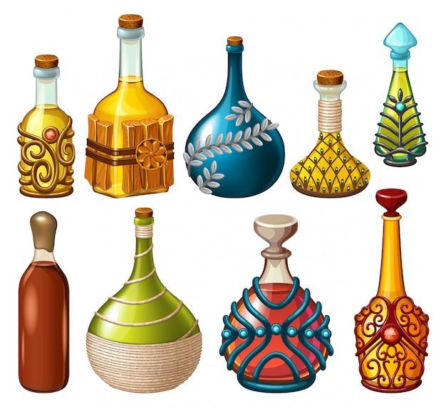 Bebidas mágicas, venenos e elixires.