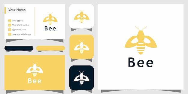 Bee logo design moderno