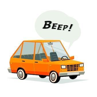 Beeping cartoon car