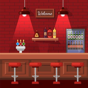 Beer bar place