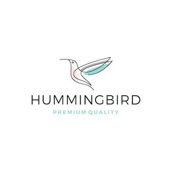 Beija-flor colibri pássaro logo
