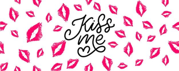 Beije-me letras de mão