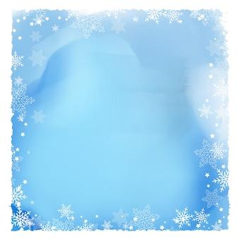Beira de floco de neve em uma textura de aguarela