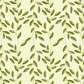Beirais verdes, ilustração padrão