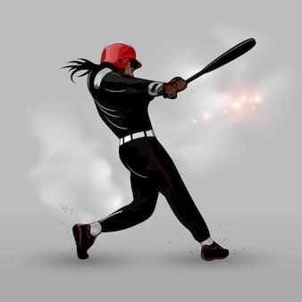 Beisebol abstrata bater bola