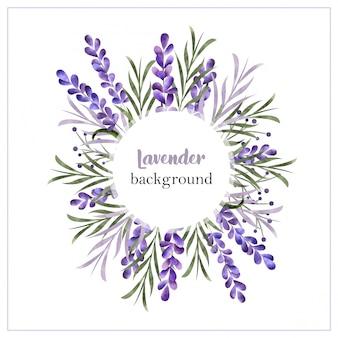 Bela aquarela borda floral