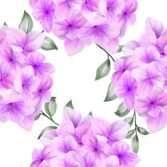 Bela aquarela floral rosa sem costura padrão flor
