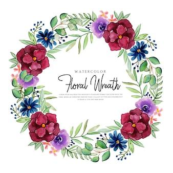 Bela aquarela multiuso floral grinalda