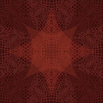 Bela arte com padrão linear marrom sem emenda