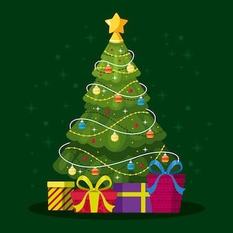 Bela árvore de natal 2d