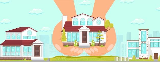 Bela casa cosy elite area edifício confiável.