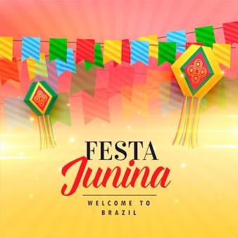 Bela celebração para junina de festa