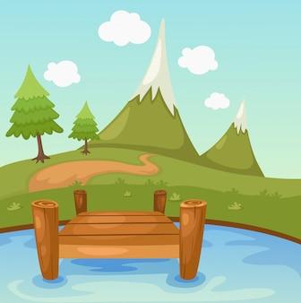 Bela cena da paisagem