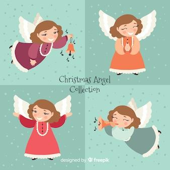 Bela coleção de anjo de natal