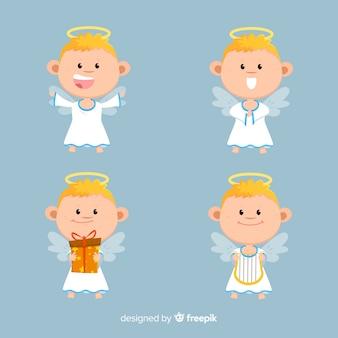 Bela coleção de anjos de natal