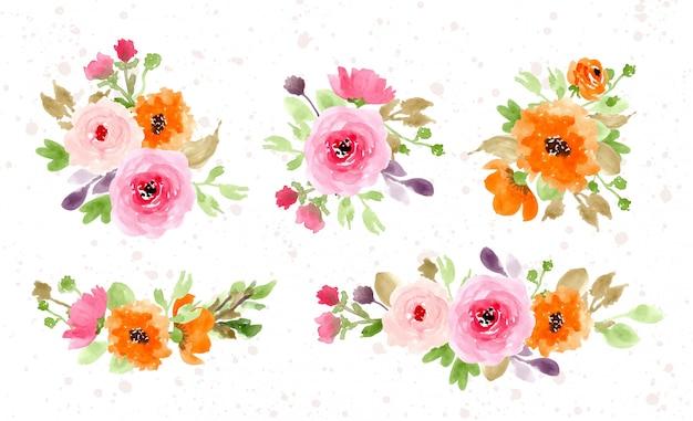 Bela coleção de arranjo floral