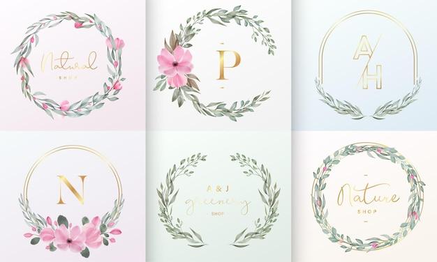Bela coleção de design de logotipo para logotipo de marca e identidade corporativa